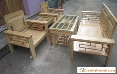 Bàn ghế gỗ mã 002H