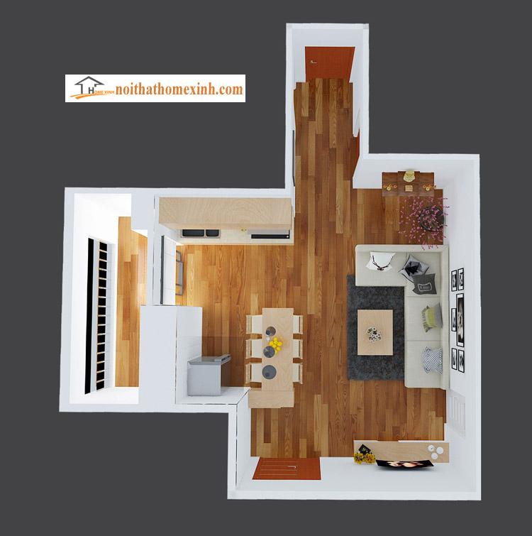 Ảnh 3: Nội thất phòng khách mã 007H