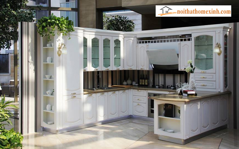tủ bếp tân cổ điển 007H