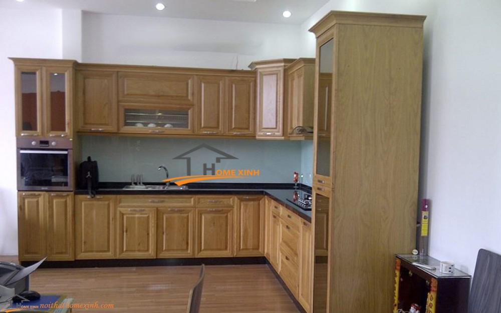 Tủ bếp gỗ sồi mã 029H