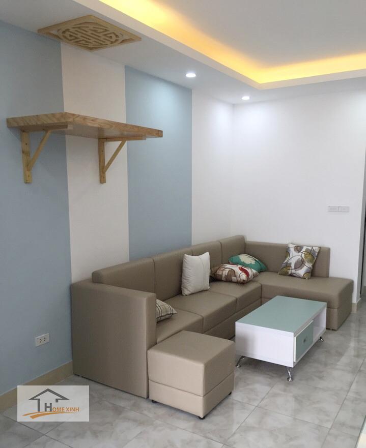 Hình 02: Thiết kế nội thất phòng khách chung cư tại Hà Nội