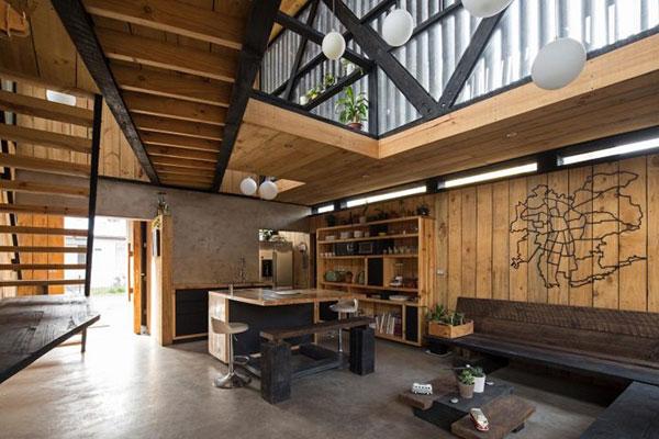 Thiết kế nhà phố bằng gỗ độc đáo với hai khối hộp chữ nhật chéo nhau tại Chile - ảnh 2