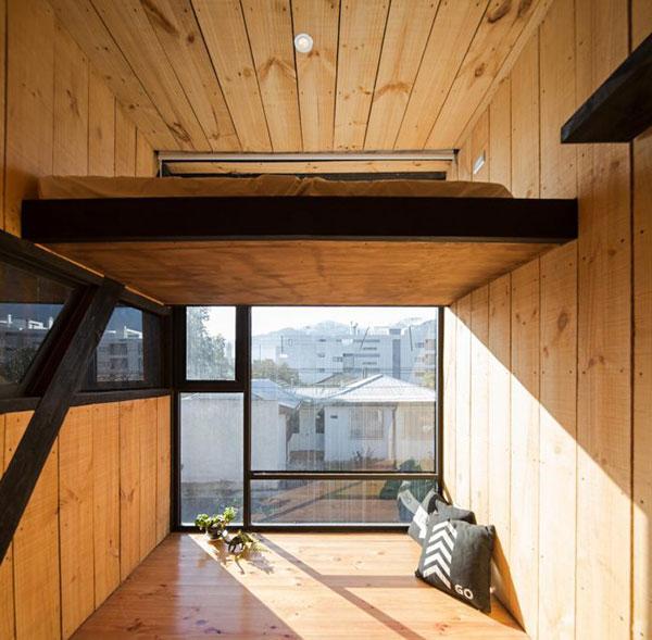 Thiết kế nhà phố bằng gỗ độc đáo với hai khối hộp chữ nhật chéo nhau tại Chile - ảnh 5
