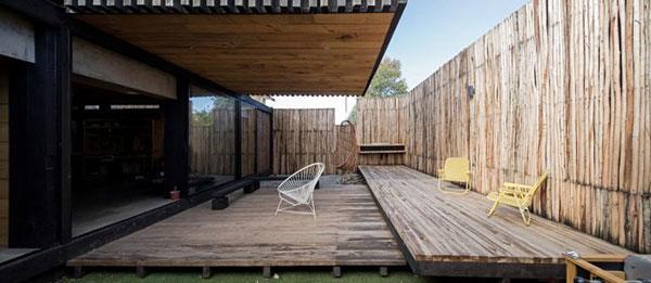 Thiết kế nhà phố bằng gỗ độc đáo với hai khối hộp chữ nhật chéo nhau tại Chile - ảnh 6