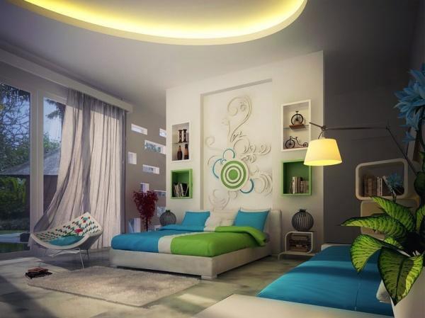 Những gam màu xanh cho phòng ngủ tươi mát