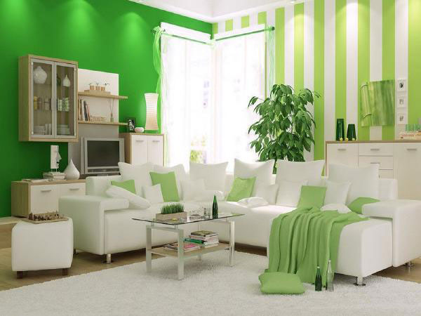 Gam màu xanh lá cho thiết kế phòng khách - ảnh 2