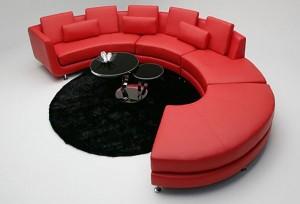 Những mẫu sofa màu đỏ hiện đại cho phòng khách nổi bật