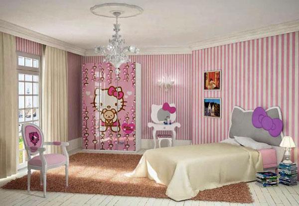 Màu hồng chủ đạo trong các thiết kế nội thất phòng ngủ cho cô gái tuổi teen