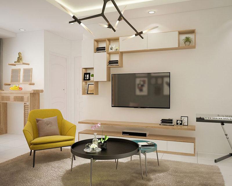 Hình ảnh thiết kế nội thất căn hộ 80m2 chung cư Petroland