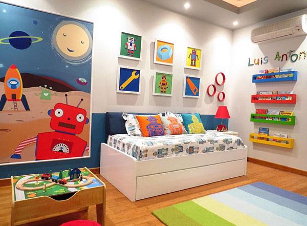 Mẫu thiết kế nội thất phòng ngủ trẻ em chủ đề phiêu lưu, khám phá