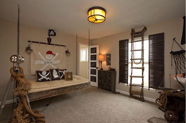 Chủ đề cướp biển cho thiết kế phòng ngủ bé trai