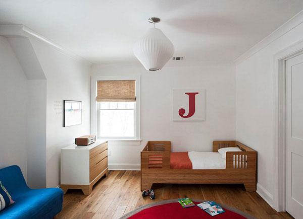 Phòng ngủ dành cho những bé thích sự đơn giản