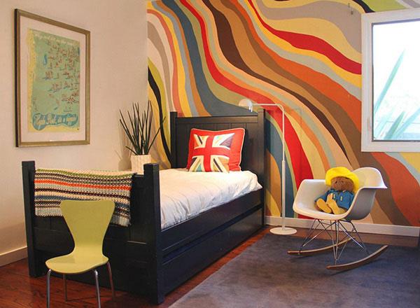 Mẫu thiết kế phòng ngủ cho bé chủ đề đa màu sắc