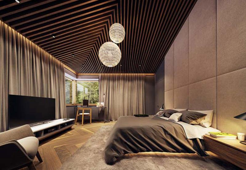 Nội thất phong cách châu âu được sử dụng trong không gian phòng ngủ