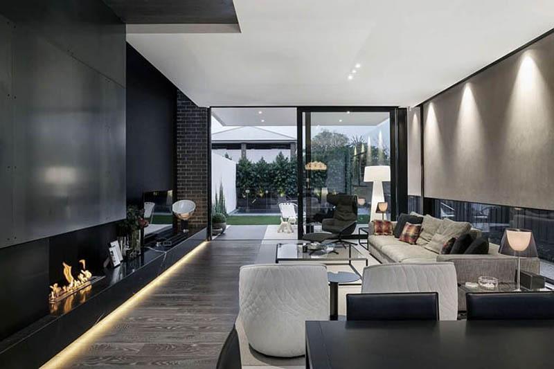 Thiết kế nội thất chung cư gam màu trắng xám hiện đại cho căn hộ ...